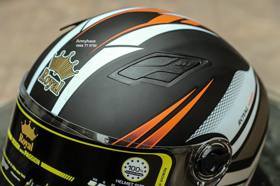 mũ bảo hiểm có kính royal 136