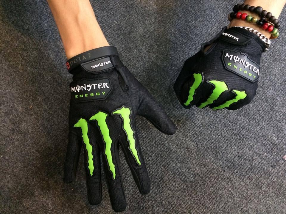 Găng tay đi phượt monster cho nam và nữ full ngón