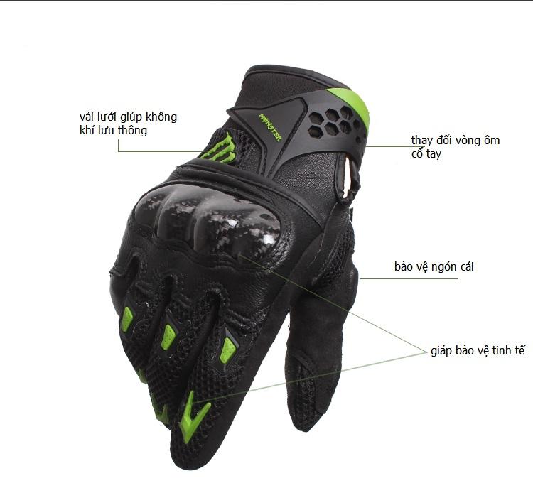 Thiết kế găng tay chính hãng Monster cao cấp