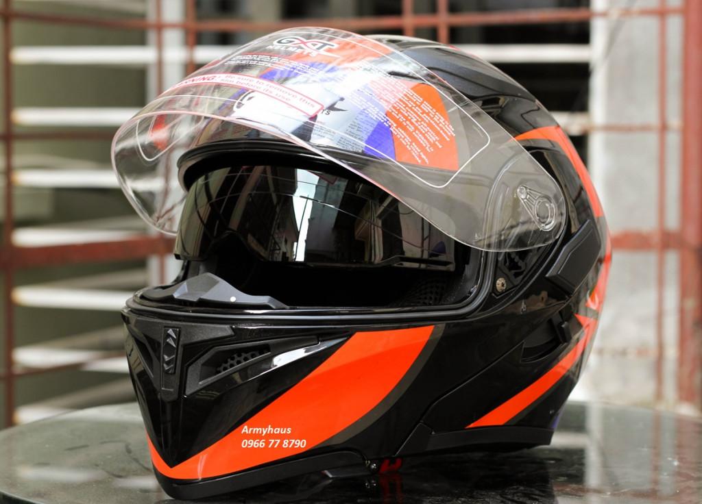 mũ bảo hiểm lật hàm 2 kính gxt