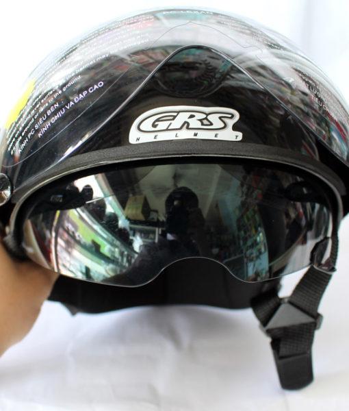 mũ bảo hiểm 2 kính GRS a966k