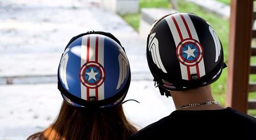 mũ nửa đầu có kính thời trang captain
